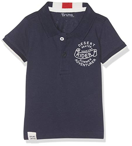 Brums Brums Baby-Jungen Polo Piquet Collo Rigato Poloshirt, Blau (Oceano 07 276), 68 (Herstellergröße: 6M)