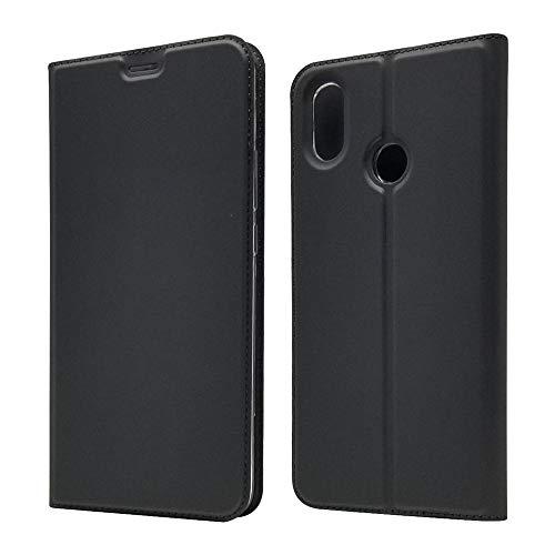 Sangrl Funda para Xiaomi Mi MAX 3, Libro Cuero de la PU Leather Case Soporte Plegable Premium Flip Case para Xiaomi Mi MAX 3 - Negro
