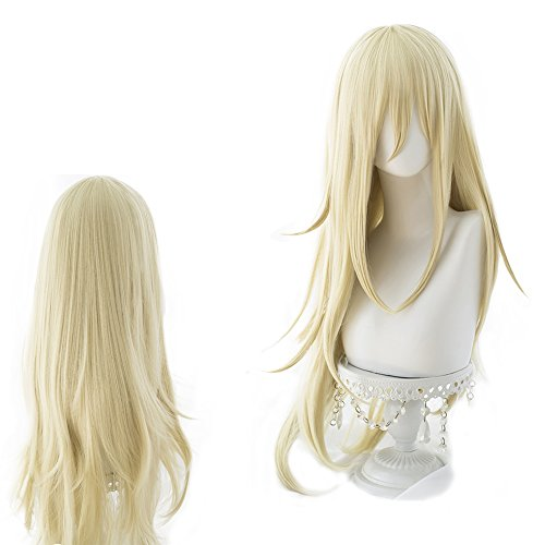 magic acgn Angels of death Blonde Curly Long Party For Women ladies girlsCosplay Wig Halloween Wig