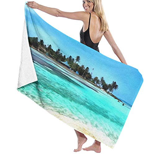 Tsjkwo Oil Painting Art Print for Wall Decor Acrylic Artwork Big Si L Quick-Drying Beach Towel The Best Lightweight Bath Towel for Swimming Beach (32 x 52) inches