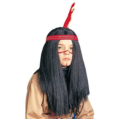 NET TOYS Perruque pour Enfants Indien garçon Perruque de Carnaval Perruque pour déguisement Perruque pour Enfants Perruque d'indien