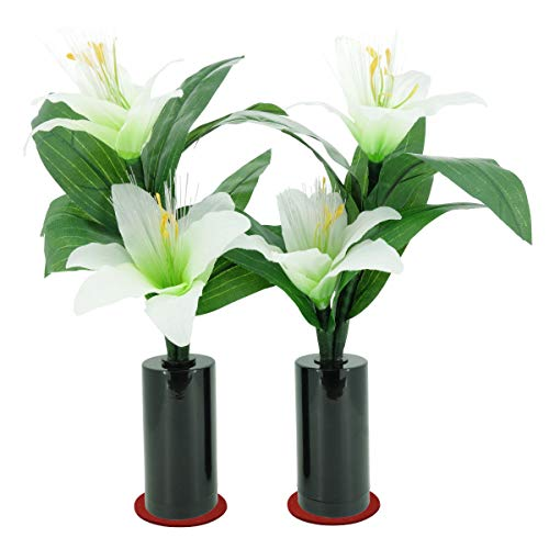 ミニルミナス コードレス リリー1対(2本入)LEDライト(仏壇用仏花・造花・盆提灯)百合の花