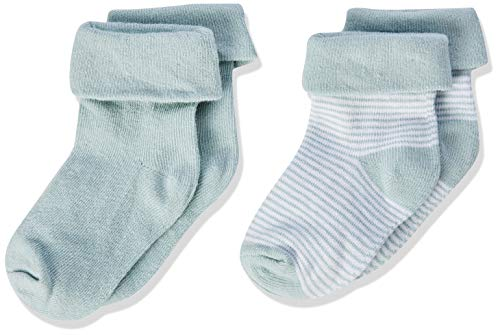 Noppies Baby Jungen Socken (2 Paar), Grey Mint, 0-6 Monate