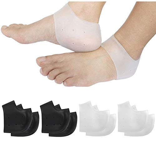 Breathable Heel Cups, Plantar Fasciitis Inserts, Heel Pads Cushion Great for Heel Pain, Heal Dry Cracked Heels, Achilles Tendinitis, for Men & Women