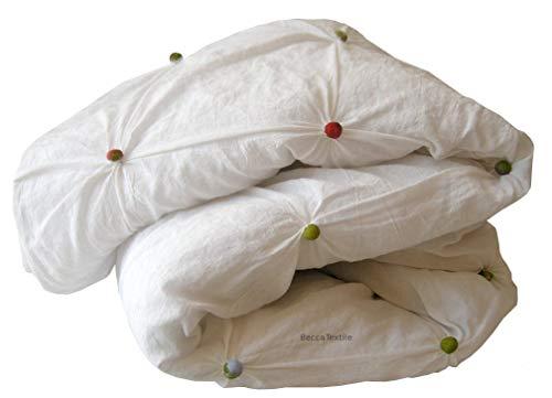 Decke, Handgemachtes Baumwoll-Duvet, Sofa und Bett wirft Decken. Original Tupfen Duvet. Exklusiv auf Linie, BeccaTextile.