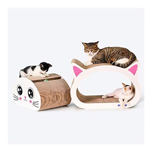 Cat krasplank kat speelgoed gegolfd papier slijpen apparaat Big-Eyed kat hoofd combinatie met een bel bal, katnip