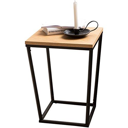 Wolner Skandi Table d'appoint en Bois de chêne DF 60 x 50 x 50 cm avec Structure en métal