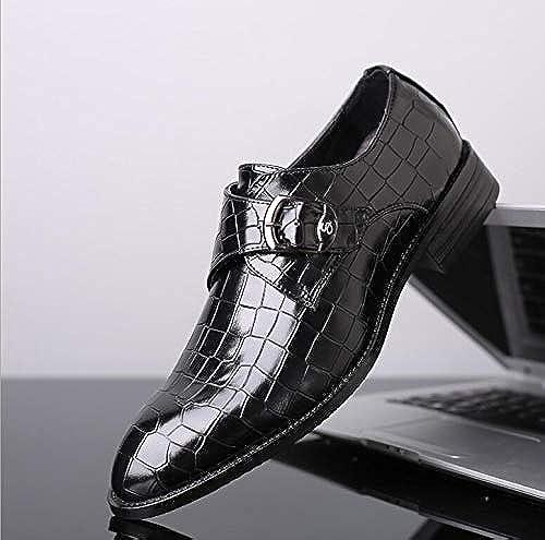 LOVDRAM Chaussures en Cuir pour Hommes Nouveaux Hommes Chaussures Habillées De Mariage Formel en Cuir PU Chaussures Rétro Brogue Bureau d'affaires Hommes ApparteHommests Oxfords pour Hommes 10.5 As Pic