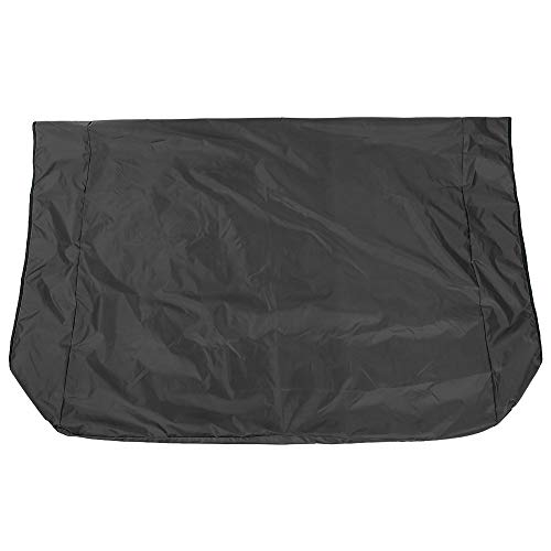 Redxiao Staubdichtes, sonnengeschütztes, reißfestes, dauerhaftes Schutz-Swing-Canopy-Cover Reißfestes Swing-Canopy für Garten-Rasen-Außenpflanzen(Black)