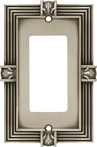 Franklin Brass 64463 Pineapple Single Decorator Wall Plate/Switch Plate/Cover, Brushed Satin Pewter
