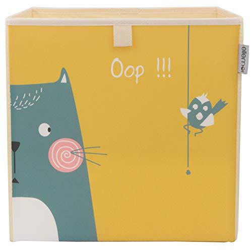 Kinder Aufbewahrungsbox von ELLEMOI Faltbare Spielzeug Box (33x33x33) zur Aufbewahrung im Kallax Regal (Opps)