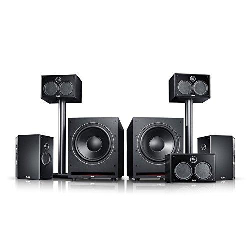 Teufel System 6 THX 5.2-Set Schwarz Heimkino Lautsprecher 5.1 Soundanlage Kino Raumklang Surround Subwoofer Movie High-End HiFi Speaker