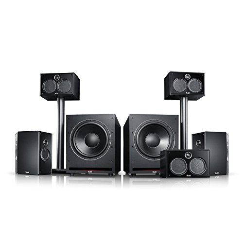 Teufel System 6 THX 5.2-Set Schwarz Heimkino Lautsprecher 5.1 Soundanlage Kino Raumklang Surround Subwoofer Movie High-End HiFi Speaker