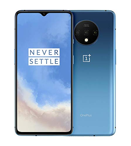OnePlus 7T Dual-SIM 128GB/8GB RAM (GSM, CDMA) Factory Unlocked 4G/LTE Android Smartphone - International Version (Frosted Silver) (Renewed)