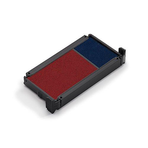 Trodat Ersatzkissen 6/4912/2 für den Office Printy Textstempel – Stempelfarbe blau-rot, 2er-Pack