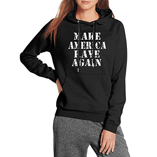 Flames Wolf Make-America-Rave-Again Women's Casual Pullover Hoodies Long Sleeve Sweatshirts with Pockets