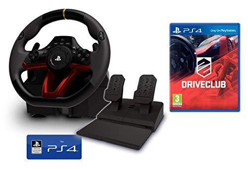 PS4 Lenkrad und Pedale [Neues Modell] Wireless Kabelloses Offiziell Sony PS4 lizensiert + Driveclub