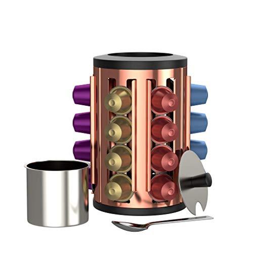BonVivo Kafono Kapselhalter für Kaffee Kapseln, Hochwertige und Platzsparende Kaffee Kapsel Aufbewahrung für Kaffeemaschine Kapseln, Dekorativer Nespresso Kapselspender
