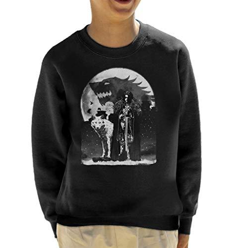 King In The North Jon Snow Wolf Game of Thrones Kid's Sweatshirt