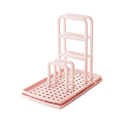 HPPL Traceless Plastic Corner opslagrek badkamer keuken organizer douche plank kits wandhouder sale-in opslag houder, roze