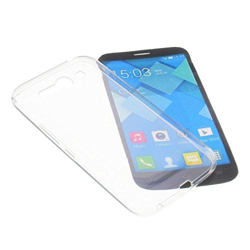 foto-kontor Tasche für Alcatel One Touch Pop C9 Gummi TPU Schutz Handytasche transparent klar