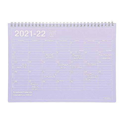 マークス 手帳 2021 スケジュール帳 ダイアリー マンスリー 2021年4月始まり B5変型 ノートブックカレンダー・M パープル 21SDR-NB1-PL