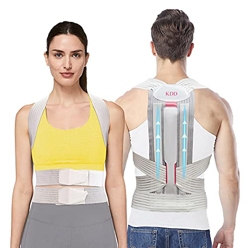 Posture Corrector with Back Support and Adjustable Upper Back Brace for Women...