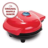 PrimAlite 350W Mini Stainless Steel Non-Stick Electric Waffle Maker Machine for Pan Cakes
