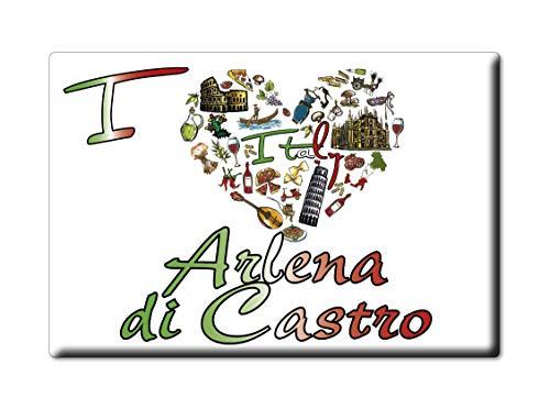Enjoymagnets Arlena DI Castro Souvenir IMANES DE Nevera Lazio IMAN Fridge Magnet Corazon I Love (VAR. Symbol)