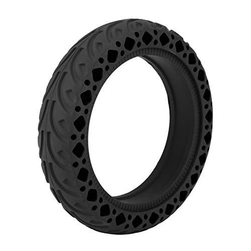 Cerlingwee Neumático de Scooter Neumático de Goma para Scooter, Material de Goma fácil de Usar Accesorios de Scooter eléctrico para neumático de Scooter de Bicicleta eléctrica(Black)