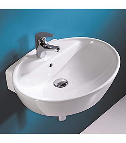 sanitana Waschbecken Oval Wand Serie Soft stlv2e10C0weiß.