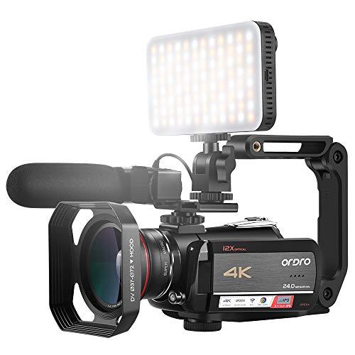 Videocámara 4K ORDRO AC5 UHD con Zoom...