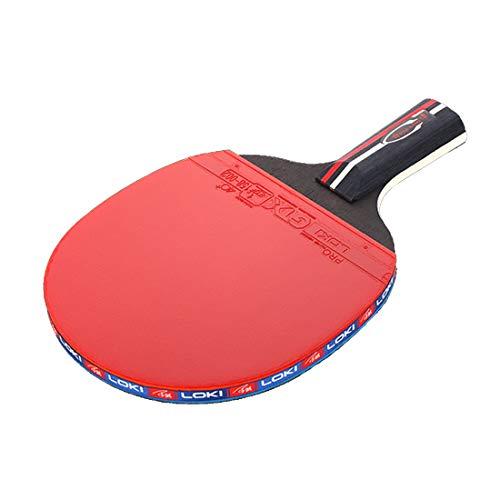 HUATINGRHPP Tischtennis Tischtennisschläger (kohlefaser/balsaholz) Profi Für Maximale Geschwindigkeit, Rotation Und Kontrolle,anfängerfreundlich, Geeignet Für Wettkampf Ball, Short