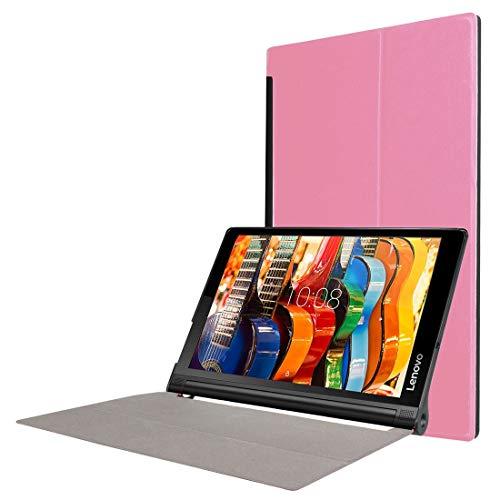 XINGCHEN Tablet PC Shell Custer Texture - Estuche de Cuero en Color Liso con Tiras horizontales y Textura con Soporte Plegable for Lenovo Yoga Tab 3 Pro X90L, 10.1 Pulgadas (Negro) Funda Protectora