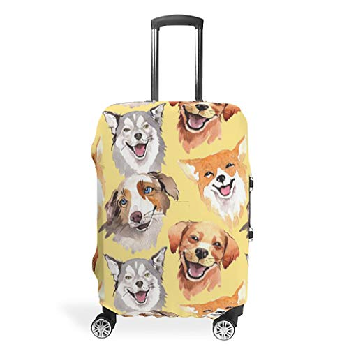 RNGIAN - Funda protectora para maleta de perro con impresión 3D Blanco...