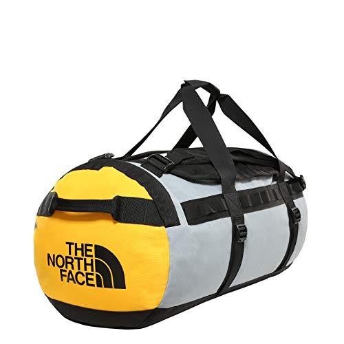 The North Face - Gilman Duffel-Tasche - Robuste Tragetasche mit Schultergurten - Schwarz/ Grau/ Gelb, Größe M