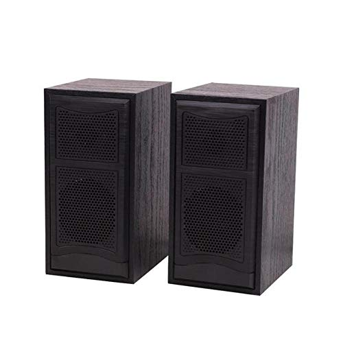 Wooden Computer Speakers 2.0 Stereo USB Powered Mini Speakers for PC/Laptops/Desktops/Game Machine, A