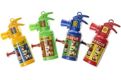 6x Feuerlöscher, Wasserspritze, als Mitgebsel zur Feuerwehrparty, Mottoparty, für den Feuerwehrmann