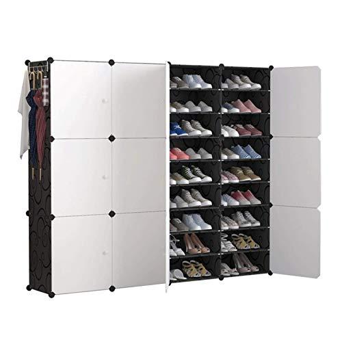 Sistema de almacenamiento de almacenamiento de zapatos portátiles con puertas, zapatos, accesorios para zapatos portátiles de almacenamiento de zapatos, caja de zapatos, espacio, organizador de ahorro