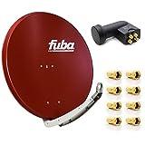 Fuba DAA 850 R Digital Sat Schüssel Rot 85x85cm Full HD 3D...