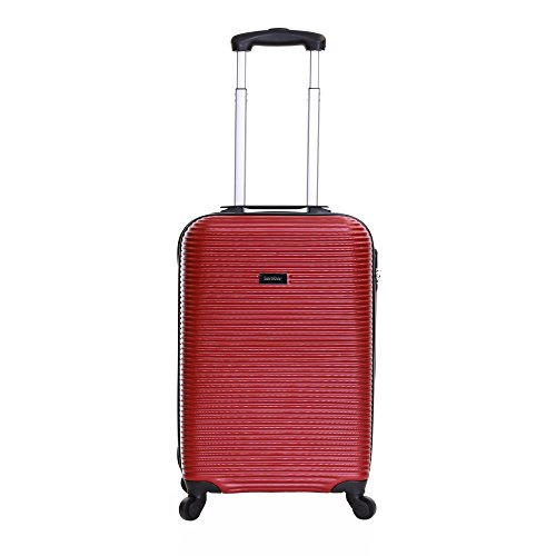 Karabar Hard Cabin Carry-on Hand Luggage Suitcase Bag 55 cm 2.5 kg 35 litres 4 Spinner wheels, Grantham Red