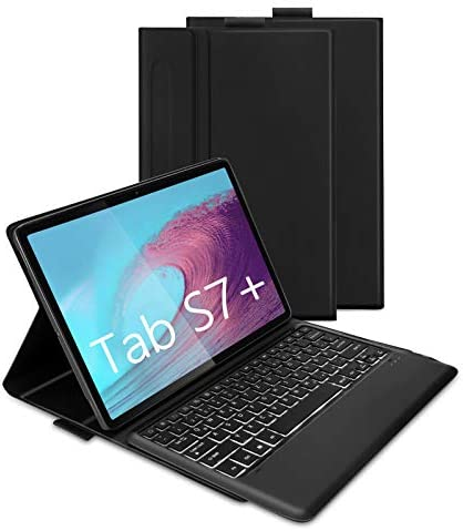 Bluetooth Backlit Keyboard Case for Samsung Galaxy Tab S7 Plus 12 4 2020 SM T970 T975 T976 Jelly product image