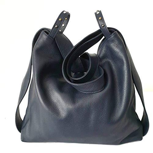 Bolso mochila mujer de piel Bolso de hombro Artesanía Italiana