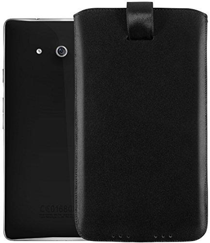 mumbi Echt Ledertasche kompatibel mit Huawei Ascend Mate Hülle Leder Tasche Case Wallet, schwarz - 3