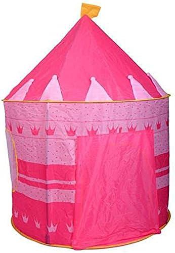 LIAN Kinder Spielen Zelt Tragbare Falten Rosa Kinder Schloss Cubby spielhaus (41,33 x 41,33 x 53,15 inch Verpackung von 1)