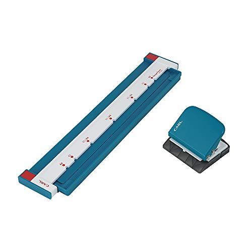 【Amazon.co.jp 限定】 カール事務器 ルーズリーフパンチ ゲージパンチ A4/B5対応 5枚 ブルー GP-2630A-B