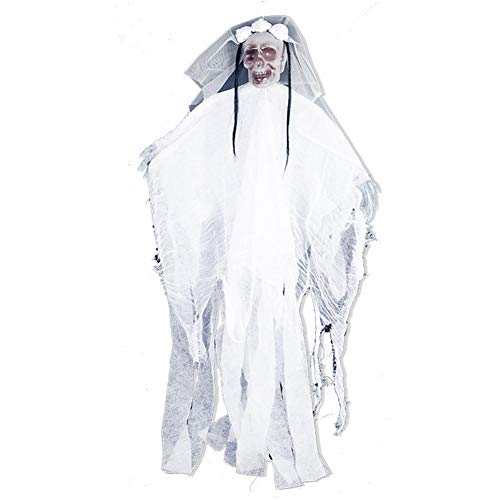 sprwater Decoración de Halloween Fantasma Imitación Colgante Decoración Prop, Inofensivo Duradero