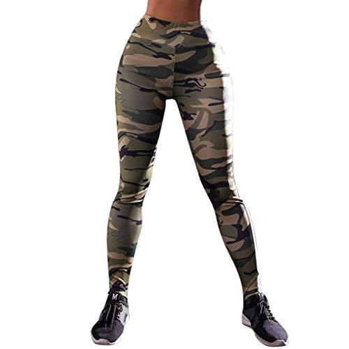 SHOBDW Pantalones Mujer Moda Camuflaje Imprimir Cool Print Cintura Alta Estiramiento Entrenamiento Leggings Gimnasio Deportes Gimnasio Correr Capri Yoga Athletic Pantalones