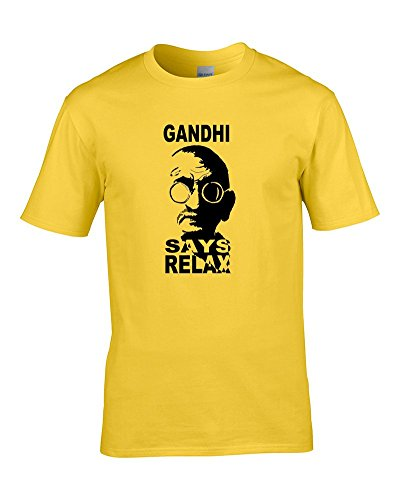 Ghandi Says Relax Parody T-shirt for Boys in 5 Colours, 3 to 14 Years