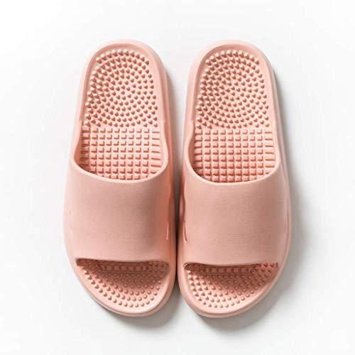 ZHBH Zapatillas de baño para Hombre, Chanclas de Masaje de Verano, toboganes para Mujer, Sandalias de Material EVA para Hombre, Antideslizante Interior para el hogar, Fondo Suave (tamaño: Gris 42-43)
